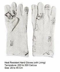 Asbestos White Asbetos Hand Gloves, Model Name/Number: AMC41