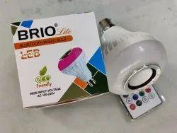 Brio Oval Led Bluetooth Musical Bulb, For Indoor, 200V-250V