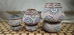 Mosaic Glass Decorative Table Lamp set of 3