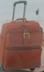 Iqra 2 Wheels Leatherette Trolley Bag, For Luggage