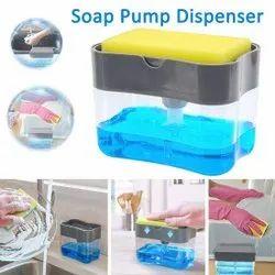 2 In 1 Soap Pump Dispenser For Dishwasher Liquid Soap Sponge Holder