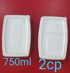 Greendale Biodegradable Bagasse Food Containers, Packaging Type: Box, Size/Dimension: 750ml And 2 Cp