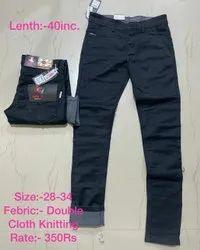 Black Lycra Cotton Pant, Waist Size: 28 to 34