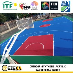 Blue Basketball Synthetic Sports Flooring