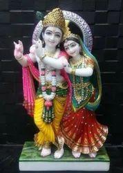 White Marble Radha Krishna Ji statue