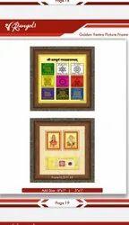 Golden yantra photo frame