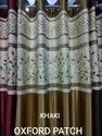 Lucky Curtains.l602 Khaki Readymade Door Curtains. Oxford Patch. Free Home Delivery., Size: Width 4 Feets X Height 7 Feets