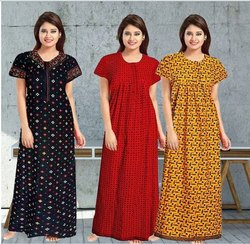 Night Dress Printed Nightwear