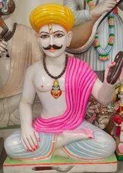 White Marble Tukaram Statue