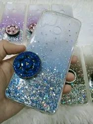 Silicone 2 In 1 Shades Gilter Case With Dimond Studed Pop Cover