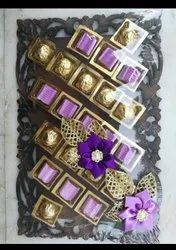 Golden And Brown Cardboard Assorted Chocolates Gift
