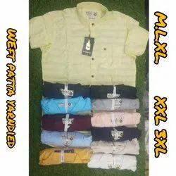 Multicolor Collar Neck Mens Fancy Cotton Shirt, Machine wash, Size: M.l.xl.xxl.xxl