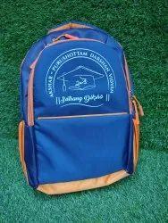 Plain Unisex Blue School Bag, For College