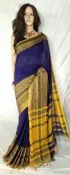 Pal sarees Party Wear Ladies Bagampuri Cotton Saree, With Blouse, 6.3 m