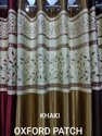 Lucky Curtains.l602 Khaki Readymade Window Curtains. Oxford Patch. Free Home Delivery, Size: Width 4 Feets X Height 5 Feets