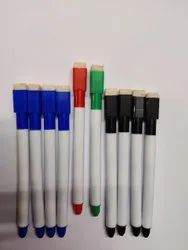 MRKILINE Blue.black.red.green White Board Marker Pen With Duster, For Office, Size/Dimension: Full Size Length
