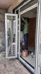 Closet Doors Pristine White Upvc Sliding Grill Door, For Home, Exterior