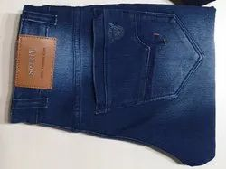Denim Regular Fit Mens Cotton Knitted Jeans, Waist Size: 30-36