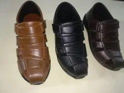 Party Wear Black Mens Bantu Sandals, Size: 6/7/8/9/10