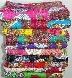 Fruit Printed Kantha Bed Cover