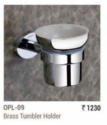 Chrome Brass Tumbler Holder, For Residential