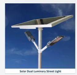 Dual Luminary Solar Street Lights