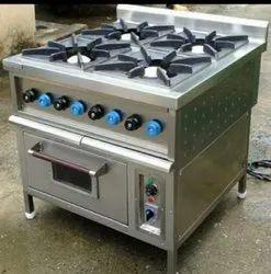 KOHLI AGENCIES 4 Four Burner Range with oven, For Hotel