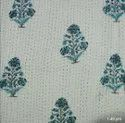 Palm Tree Printed Kantha Quilt By Meera Handicrafts