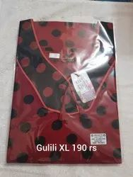 Full Length Cotton Gujili nighty, Free Size