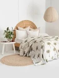 Hand Block Kantha Bed Cover