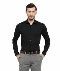 Carry Uniforms Formal Wear Men Black Shirt, Handwash
