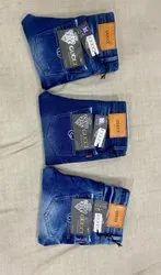 Plain Blue Mens Jeans, Waist Size: 28