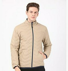 Cotton/polyester Collar Neck Men's Designer Jackets