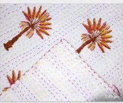 Palm Tree Kantha Quilt Kantha Bedspread