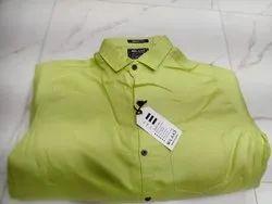Collar Neck Casual Wear Mens Plain Shirt