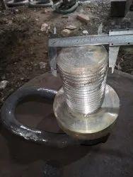 Black Alloy Steel Ring Eye Bolt, Size: M80x120mm Thread Length, 4