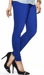 Navy Blue Mid Waist Lux Lyra Women Churidar Leggings, Ethnic Wear