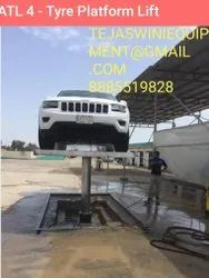 Hydraulic  Butterfly Washing  tyre rest Lift
