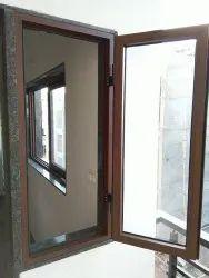 Modern Wooden Powder Coating Aluminium Section Windows