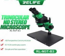 Relife RL-M3T-B3 Triangular HD Stereo Microscope
