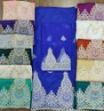 Taffeta Raw Silk Machine Emberodry George Fabric, For Asobi