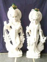 Supar quality white marble radhakrishna