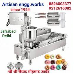 Stain Less 304 Silver Doughnut Maker Machine