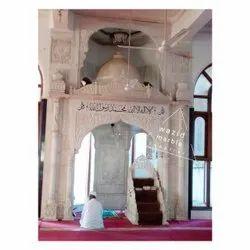 White Marble Masjid Qibla