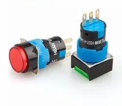 Square Push Button 16mm 24VDC LED Momentary