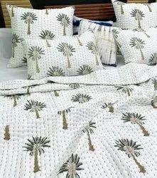 Meera Handicrafts Hand Block Printed Kantha Quilts