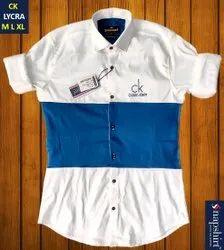 Full Sleeves Cotton CK Lycra Men Shirts