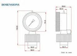 Diaphragm PP Pressure Guage