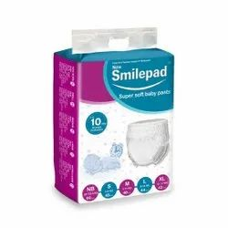 Nonwoven Smilepad baby diapers, Age Group: NB to 2 yrs, Packaging Size: Bulk Packing