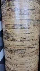 Brown Rectangular Wooden Pattern Printed PVC Floor Carpet, For Flooring